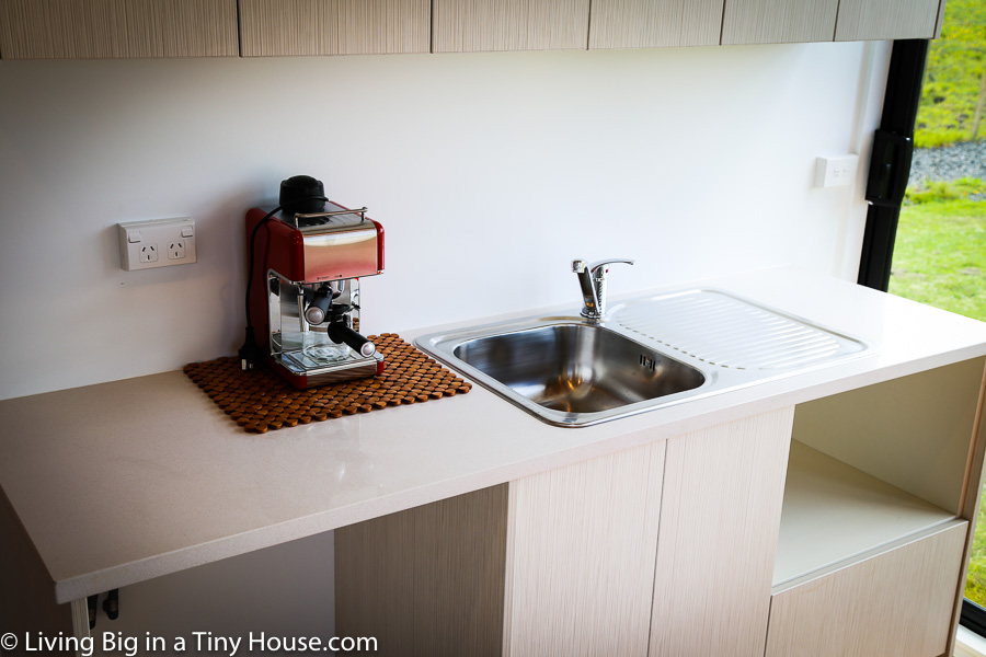 Kitchenette in Shipping Container Home