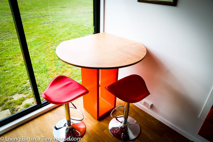 Corner Table In Shipping Container Home