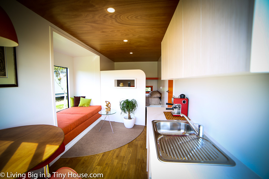 Inside the 20ft Shipping Container Home