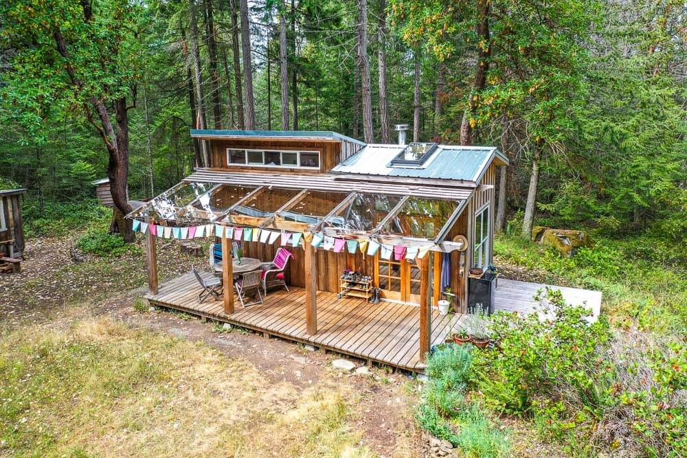 Simple Living In a Tiny Forest Home