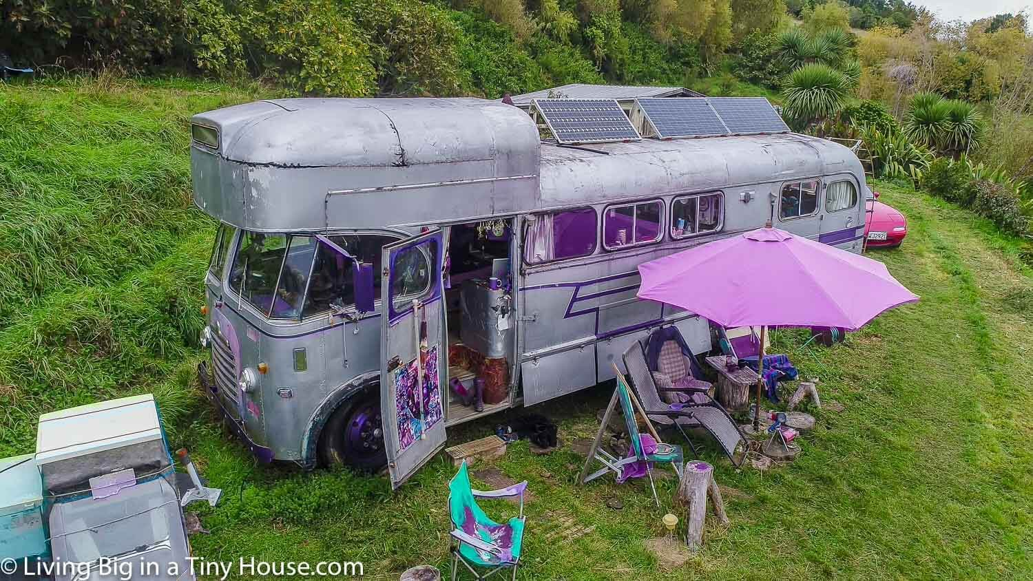 A Bedford House Bus In An Off-The-Grid Upcycled Kingdom