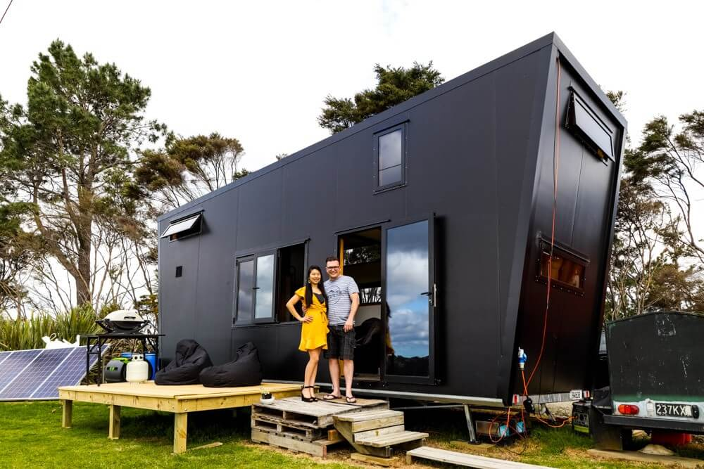 Epic Modern All Black Tiny House