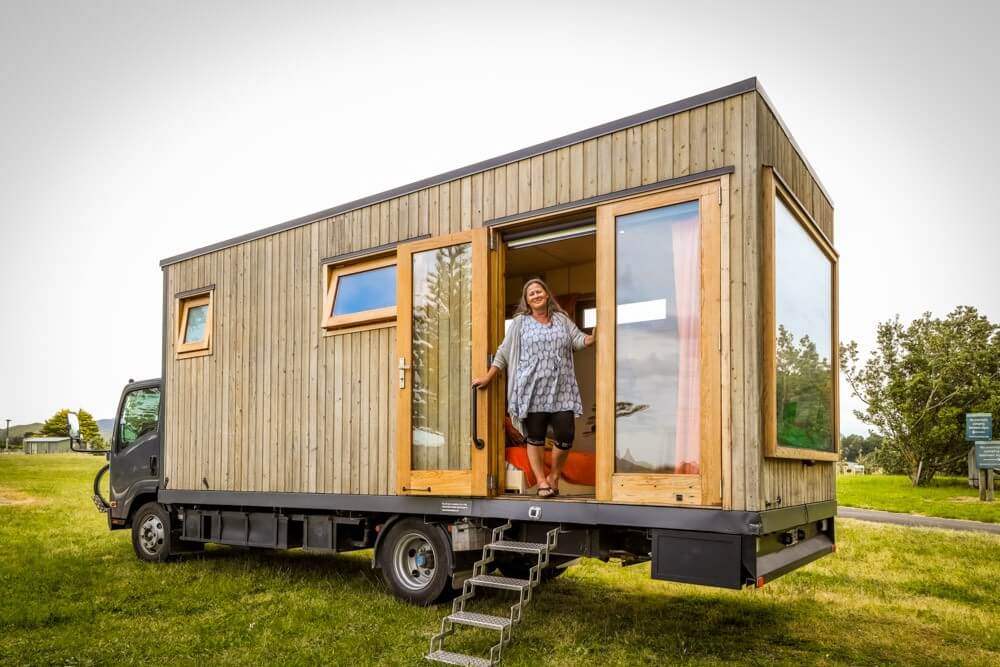 Solo Female Traveller's Incredible Off-Grid Tiny House Truck