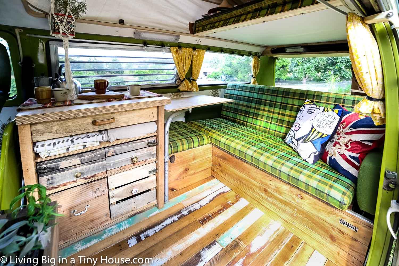 Living Big In A Tiny House Van Life In A Renovated Vw Kombi Westfalia